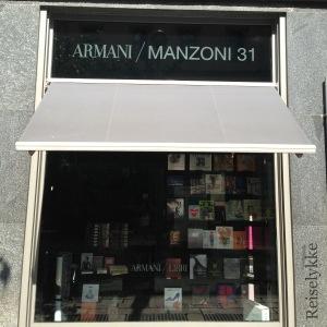 Bokhandel med elegant navn: Armani Libri