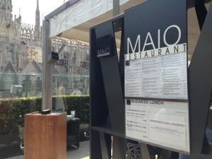 Maio Restaurant, på toppen av La Rinascente