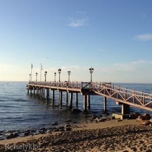 Stranden i Marbella Foto: Mette S. Fjeldheim